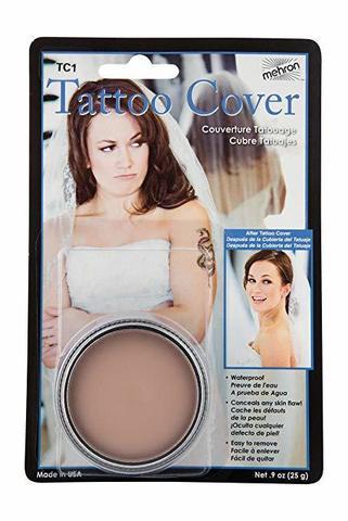 MEHRON Грим для сокрытия татуировок Makeup Tattoo Cover, Lightest Color 9oz., 25 г