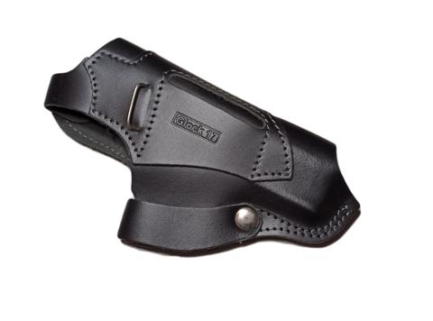 Кобура для Glock-17 поясная, симметричная, черная