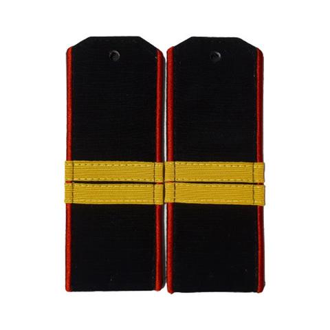 Погоны черные МП мл.сержант с шелковым галуном (рип-стоп,на пластике)