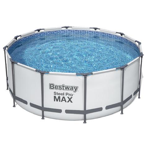 Каркасный круглый бассейн Bestway 56420 (366х122 см) с картриджным фильтром, тентом и лестницей / 7491