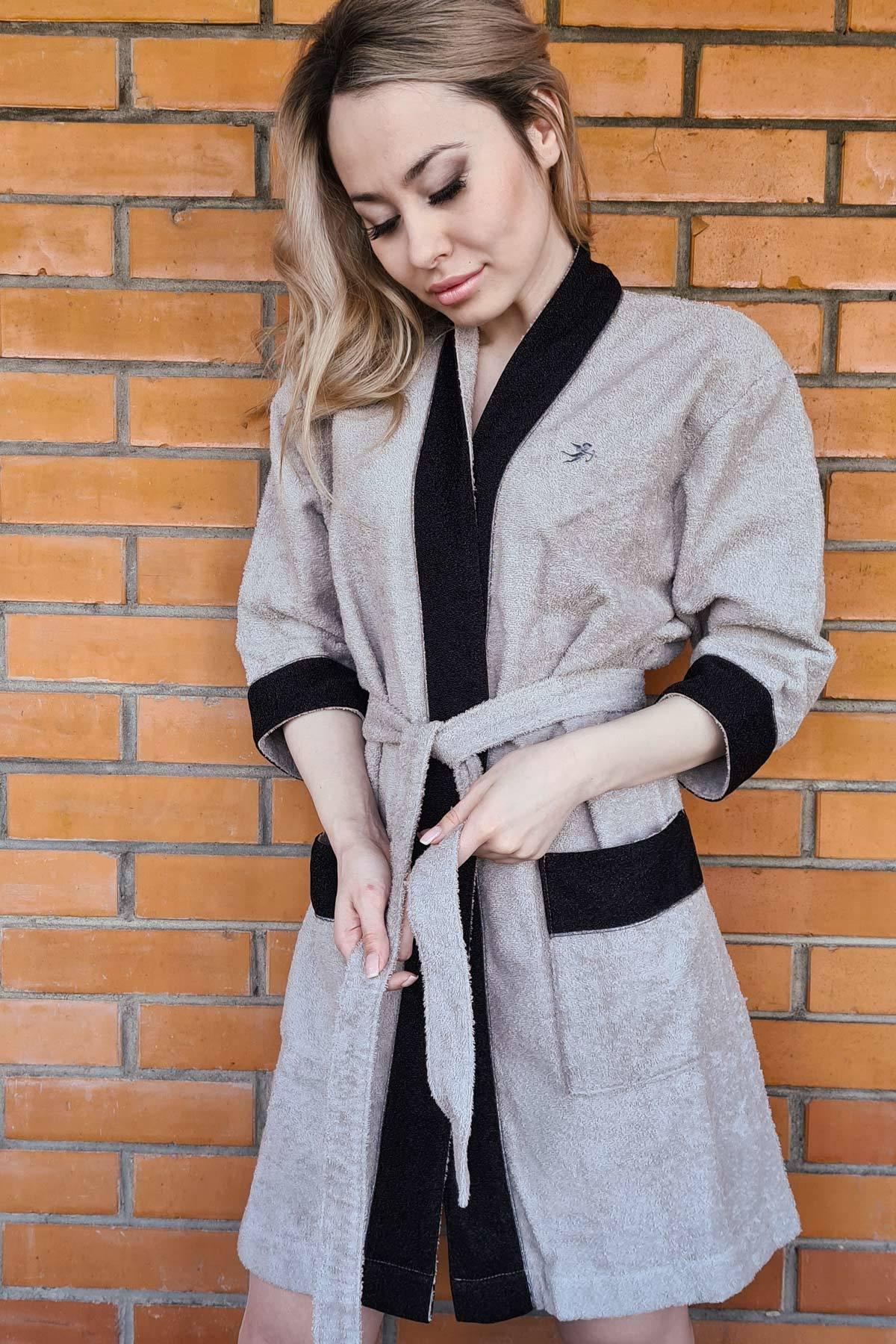 Махровое кимоно с черным люрексом Luna di Giorno