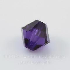 5328 Бусина - биконус Сваровски Purple Velvet 6 мм, 5 штук