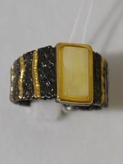 Тефа-молочный (кольцо из серебра)