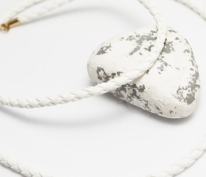 PL283-2 Белый плетеный шнурок из искусственной кожи премиум (55 см)