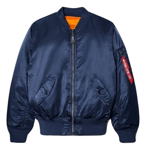 Бомбер Alpha Industries MA-1 Rep. Blue (Синий)