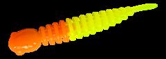 Силиконовые приманки Trout Bait Chub 65 (65 мм, цвет: Оранжево-лимонный, запах: чеснок, банка 12 шт.)