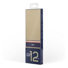 Внешний аккумулятор с БЗУ Rombica NEO ARIA Wireless Olive, 12 000 мАч, Qi, S-touch, PD, QC, Type-C, оливковый/синий