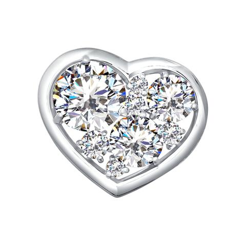 94030103 - Кулон сердце с кристаллами SWAROVSKI