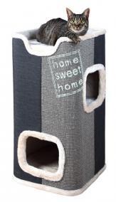 купить трикси TRIXIE Домик-башня для кошки Jorge 78 см, серый/антрацит