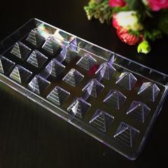 Поликарбонатная форма для шоколада  ПИРАМИДКИ 21в1