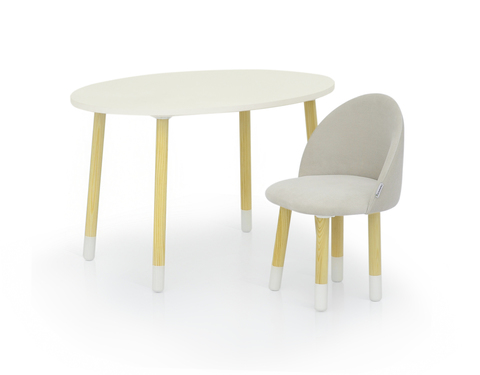 Мягкий стул «Stumpa» ванильный
