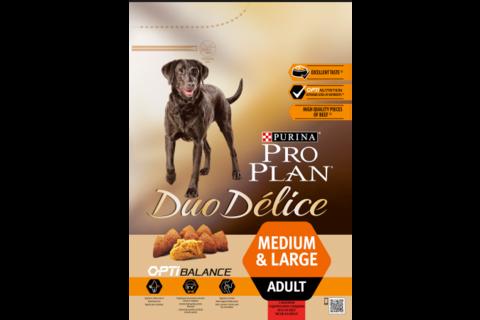 Сухой корм Purina Pro Plan DUO DÉLICE для взрослых собак с говядиной и рисом