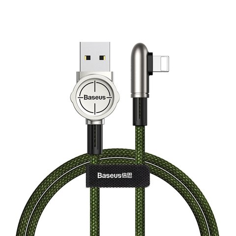 Кабель Baseus Exciting Mobile Game Cable USB For iP 2.4A 1m Green