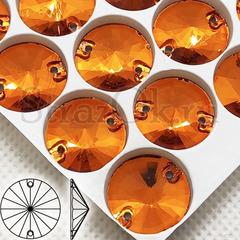 Стразы пришивные оранжевые Orange, Rivoli купить оптом