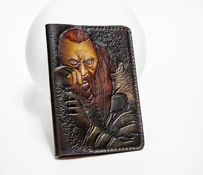 BC228 Обложка из кожи ручной работы «Викинг»