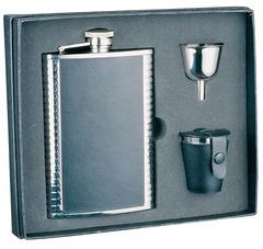 Итальянский набор с флягой S.Quire «Black and silver», 240 мл, фото 1