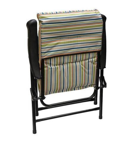 Кресло с откидной спинкой и мягким матрасом, 60х61х91 см