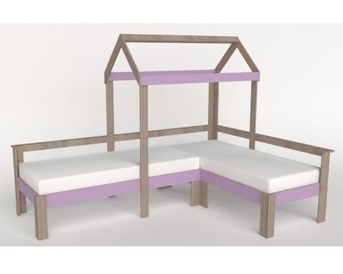 Кровать АВАРА-1-1700-0700 /2552*1800*1832/ левая