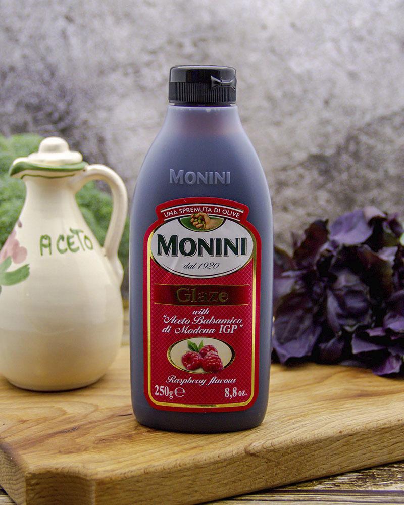 Бальзамический соус Monini со вкусом малины (глазурь) 250 мл.