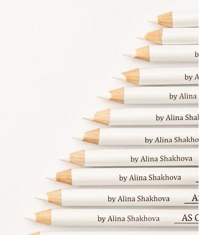 Косметический карандаш для нанесения эскиза, белый AS от Алины Шаховой