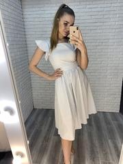 платье из льна в полоску купить
