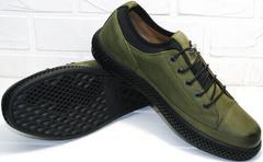 Современные кеды туфли мужские осенние Luciano Bellini C2801 Nb Khaki.