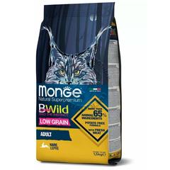 Monge Cat BWild Low Grain Сухой низкозерновой корм для взрослых кошек из мяса зайца