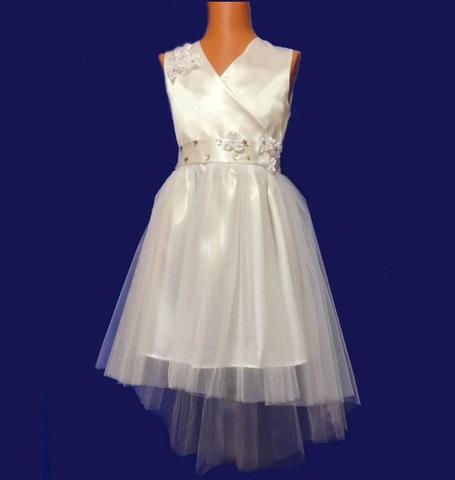 Платье со шлейфом белое