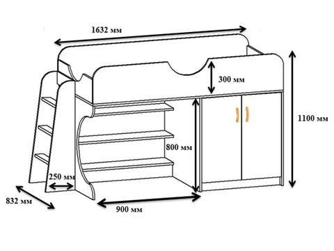Кровать Мезонин 23