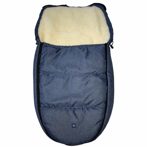 №S82 Спальный мешок в коляску exclusive (гранатовый)