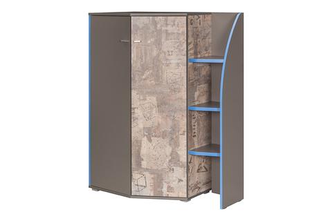 Шкаф многоцелевого назначения Индиго 10.20 Моби темно-серый, граффити