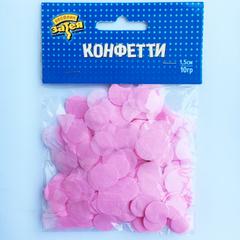 Конфетти тишью, Круги Розовые, 1,5см, / 10гр. /