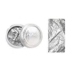 ruNail, Фольга для дизайна ногтей, серебряная