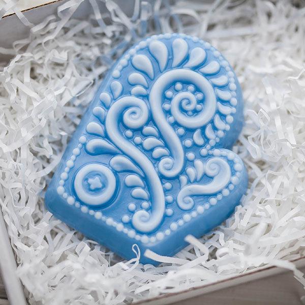 Пластиковая форма для мыла Варежка ажурная