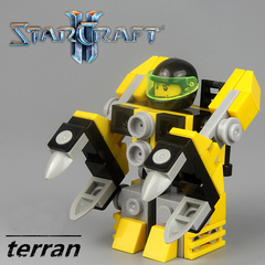 Minifigures Model Star Craft Terran Farmer