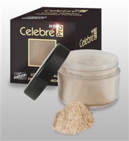 MEHRON Минеральная светоотражающая финишная пудра Celebre Loose Mineral Finish Powder - Light/Medium (Светлый/средний), 12 г