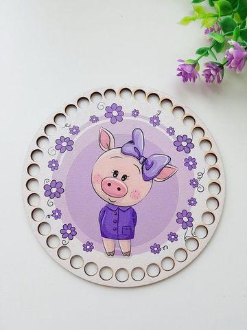Круг диаметр 15 см, рисунок Свинка