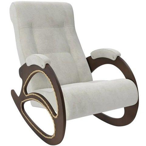 Кресло-качалка Комфорт Модель 4 орех/Verona Light Grey