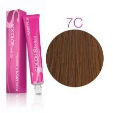 Matrix SOCOLOR.beauty: Copper 7C блондин медный, краска стойкая для волос (перманентная), 90мл