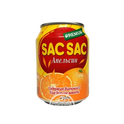 Напиток негазированный SAC SAC с мякотью апельсина 238мл Lotte Корея