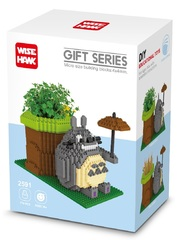 Конструктор Wisehawk Тоторо с растением 776 деталей NO. 2591 Totoro with plant Gift Series