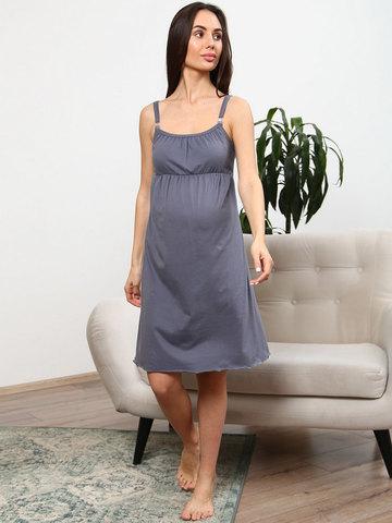Мамаландия. Сорочка для беременных и кормящих, темно-серый