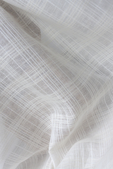 Льняная вуаль рисунок КЛЕТКА фактурная