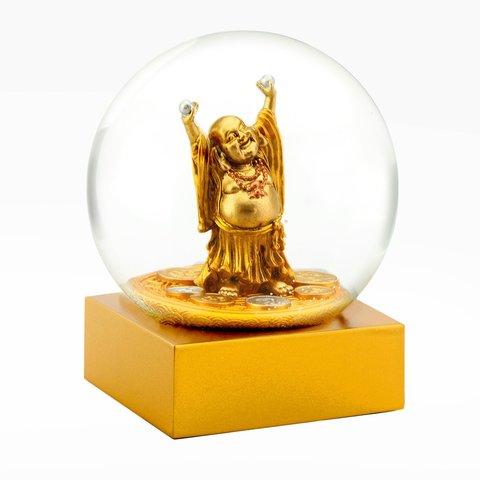 Стеклянный шар Смеющийся Будда