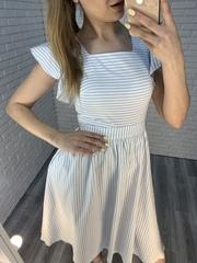 платье из льна в полоску недорого
