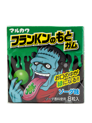 Жевательная резинка Marukawa Франкенштейн Зеленый (Лимонад) 8 шаров, 11,1 гр.