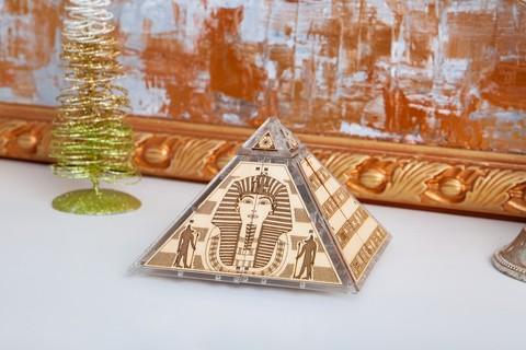 Шкатулка «Секреты Египта» от Veter Models - Пластиково деревянная механическая модель, 3D пазл