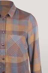 Блузка Elite 8107 рубашка клетка