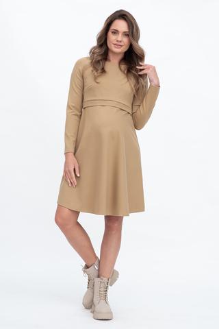 Платье для беременных и кормящих 11749 песочный