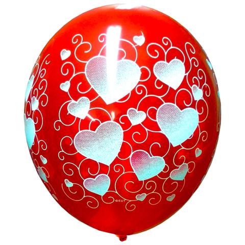 Воздушный шар Сердца Орнамент